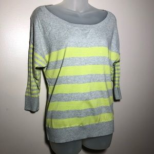 Medium American Eagle Striped 3/4 Sleeve Sweater